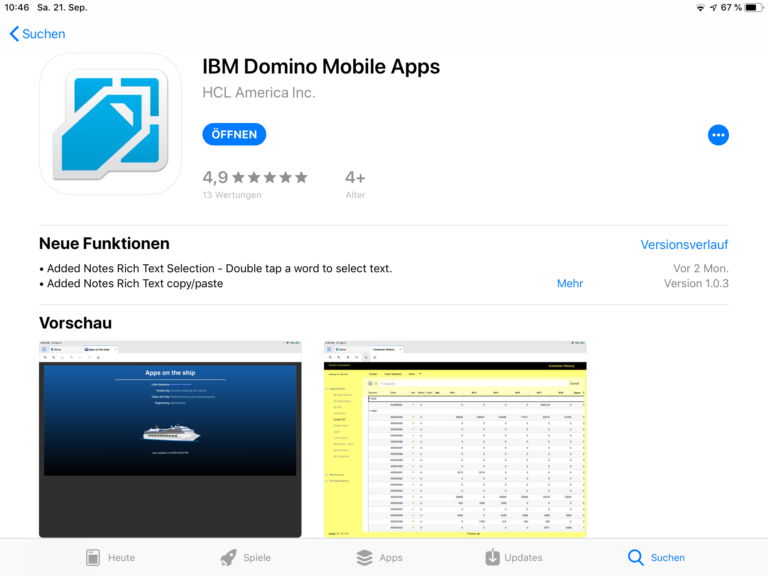 Domino Mobile App iOS